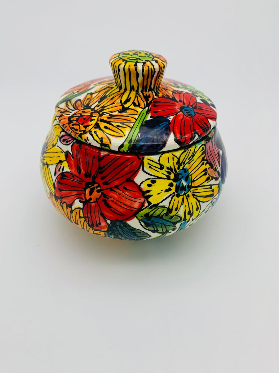 Image of Flowers from the Garden Sugar Bowl