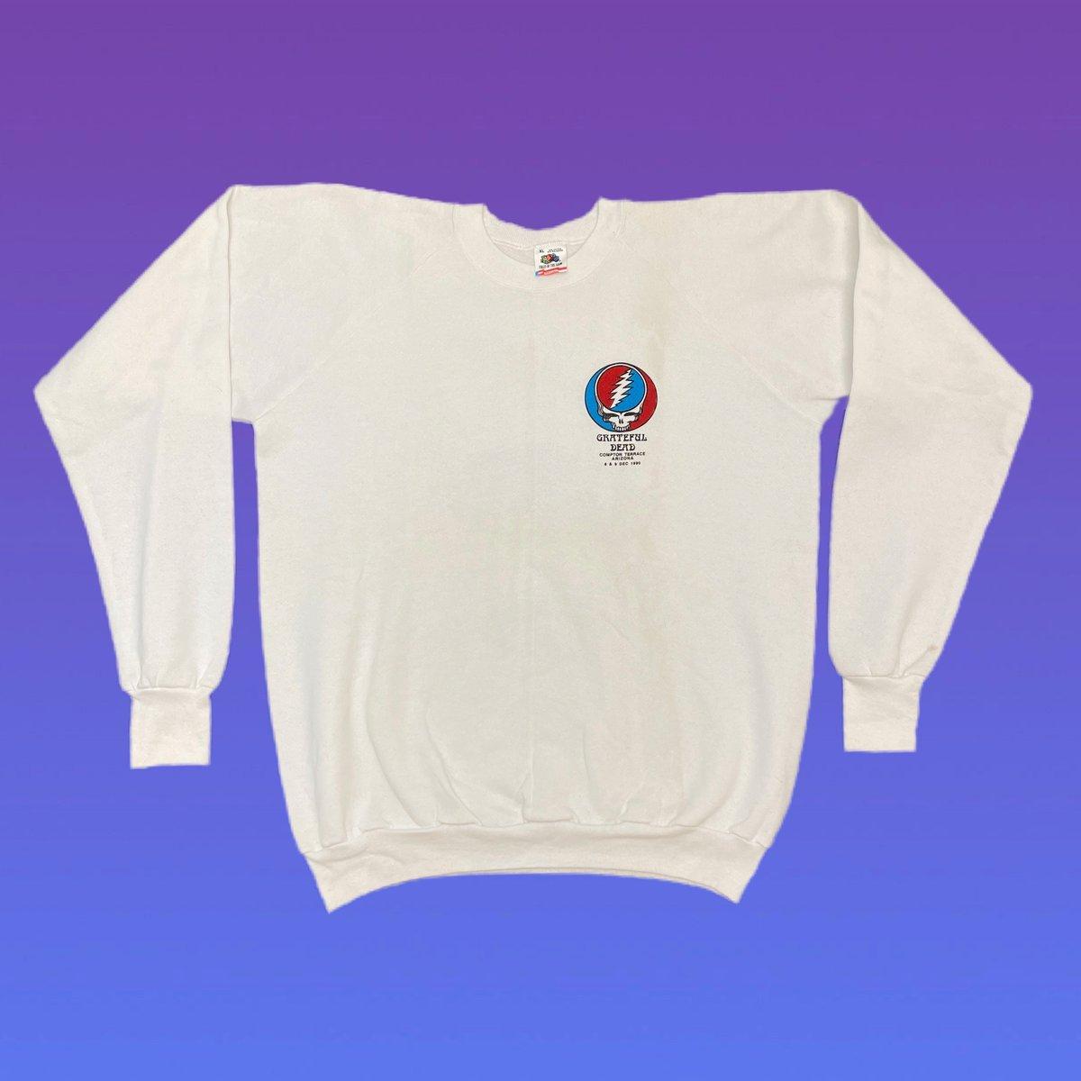 Original Vintage Grateful Dead / Crew 1990 Long Sleeve Crewneck Sweatshirt! X-LARGE