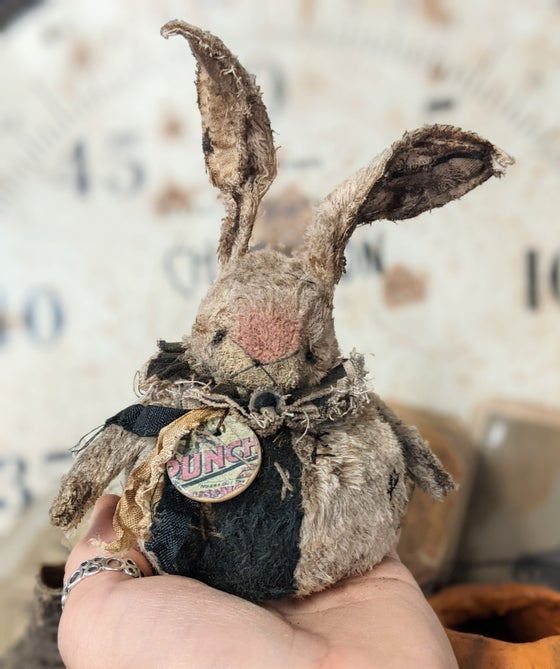 """Image of New Design -3.5""""  PUNCH the ROLY-POLY Rabbit   by Whendi's Bears."""