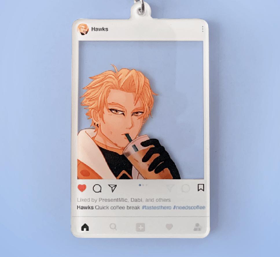 PRE-ORDER | Hawks Inspired Coffee Selfie Charm