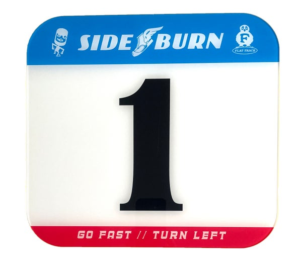 Image of Sideburn Tricolor Race Number Plate #1