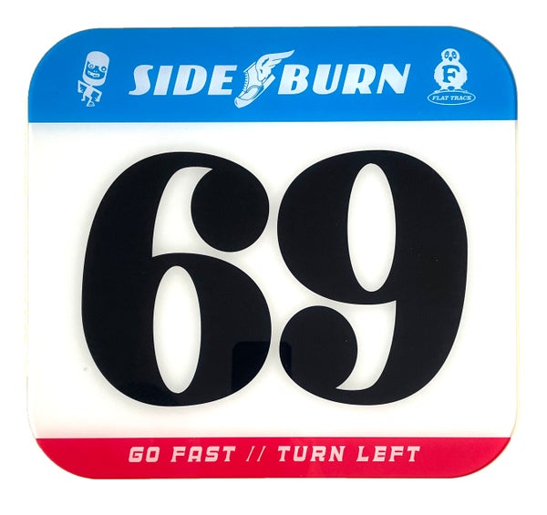 Image of Sideburn Tricolor Race Number Plate #69