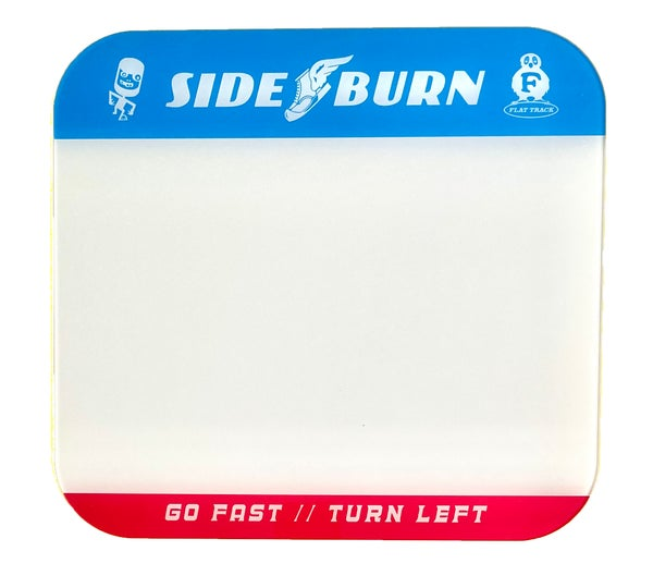 Image of Sideburn Tricolor Race Number Plate Blank