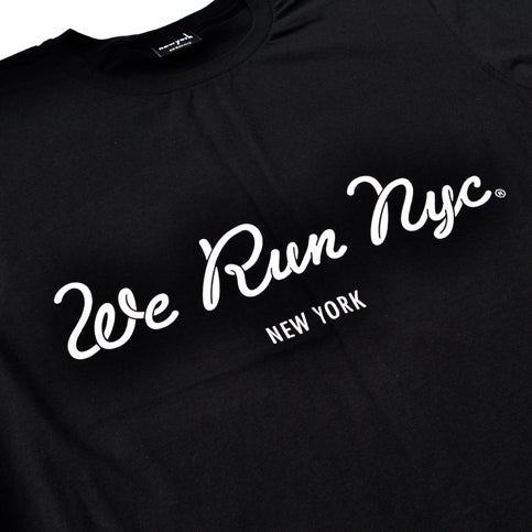 Image of WE RUN NYC Cursive Logo Tee