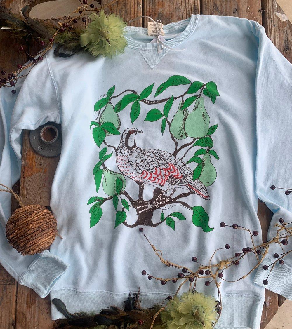 Image of Partridge in a Pear Tree Sweatshirt