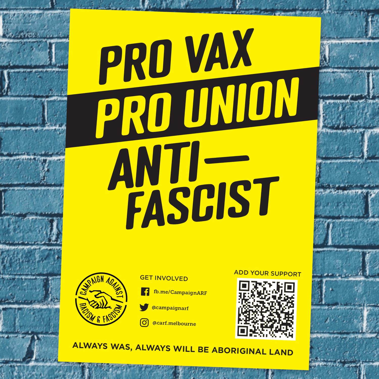 Image of Pro Vax, Pro Union, Anti-Fascist poster pack (Design 1)