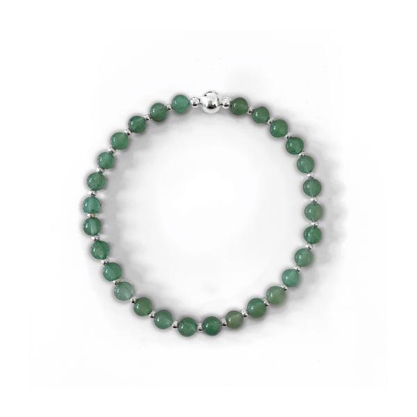 Image of Sterling Silver & Aventurine Bead Bracelet