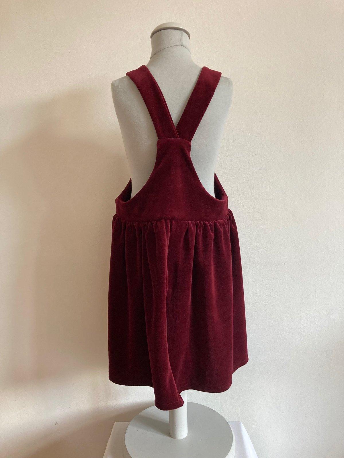 Pinafore Dress-red nicki velvet