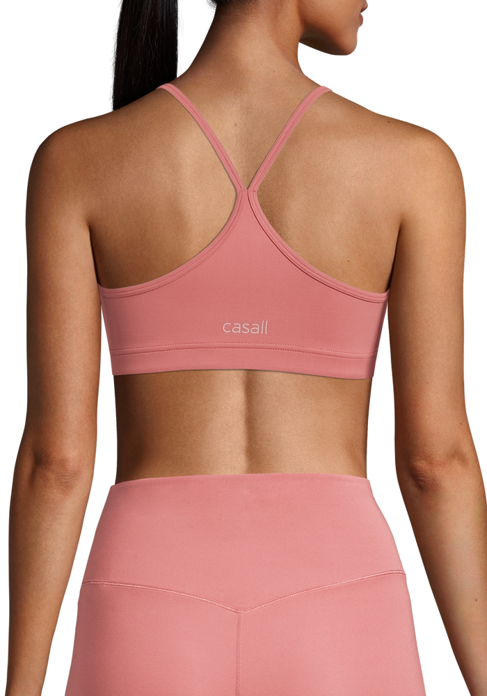 Image of Strappy Sports Bra Calming Red