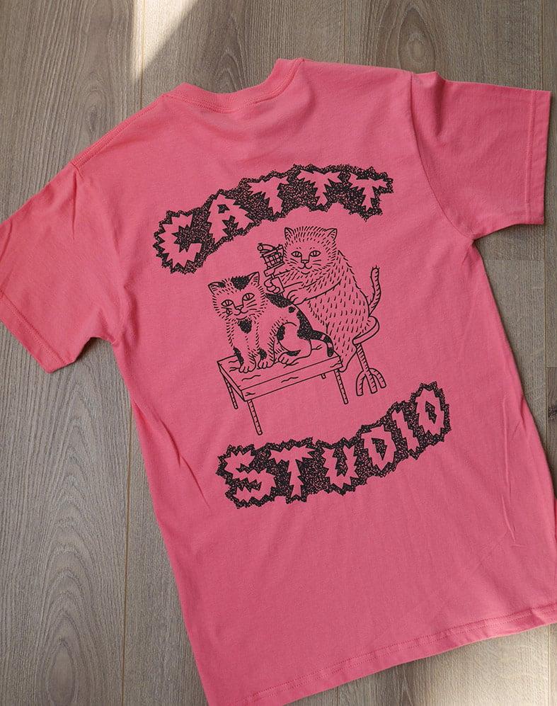 CATTT STUDIO - coral/pink - T - shirt