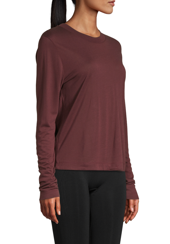 Image of Ease Crew Neck Mahogany Red