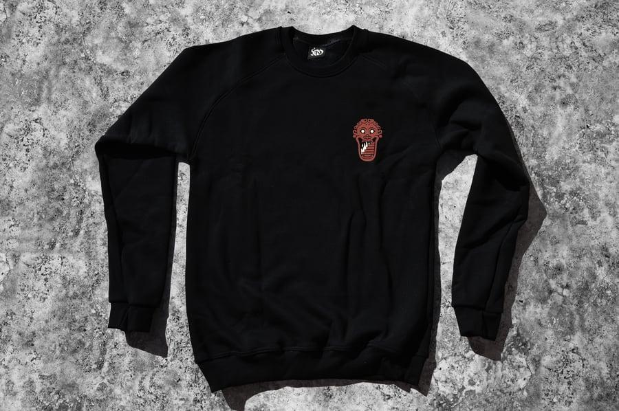 "Image of ""Welcome To Tartarus"" Black Crewneck Sweatshirt"