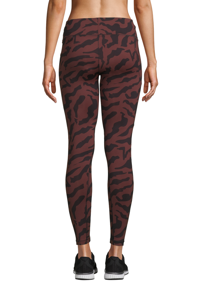 Image of Essential Tights Printed-Escaped Red