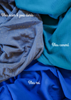Couverture bleu canard