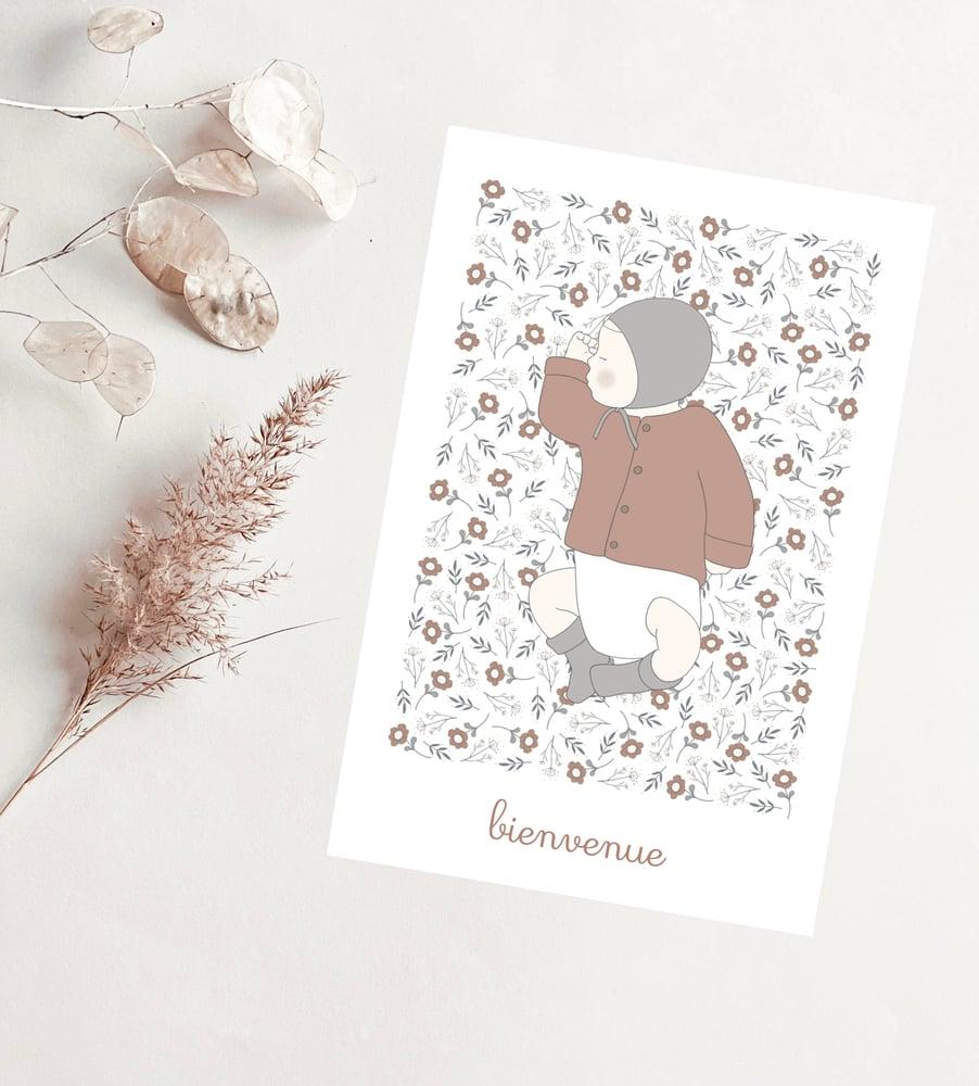 Image of Carte - Bienvenue floral