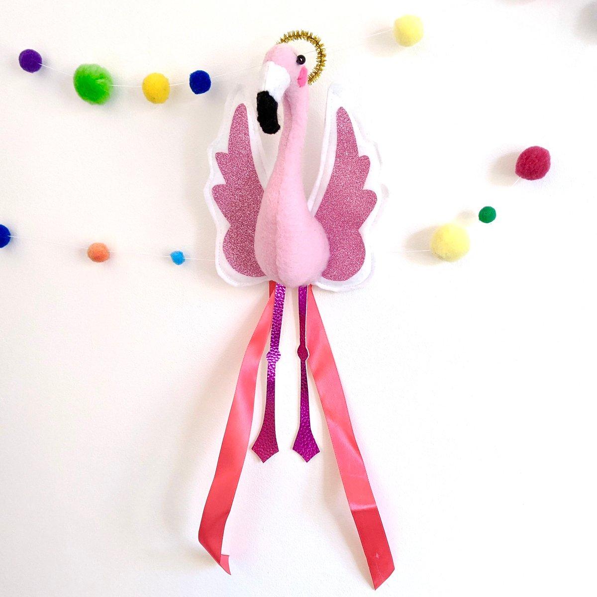 Image of Flamingo Christmas Angel Tree Topper