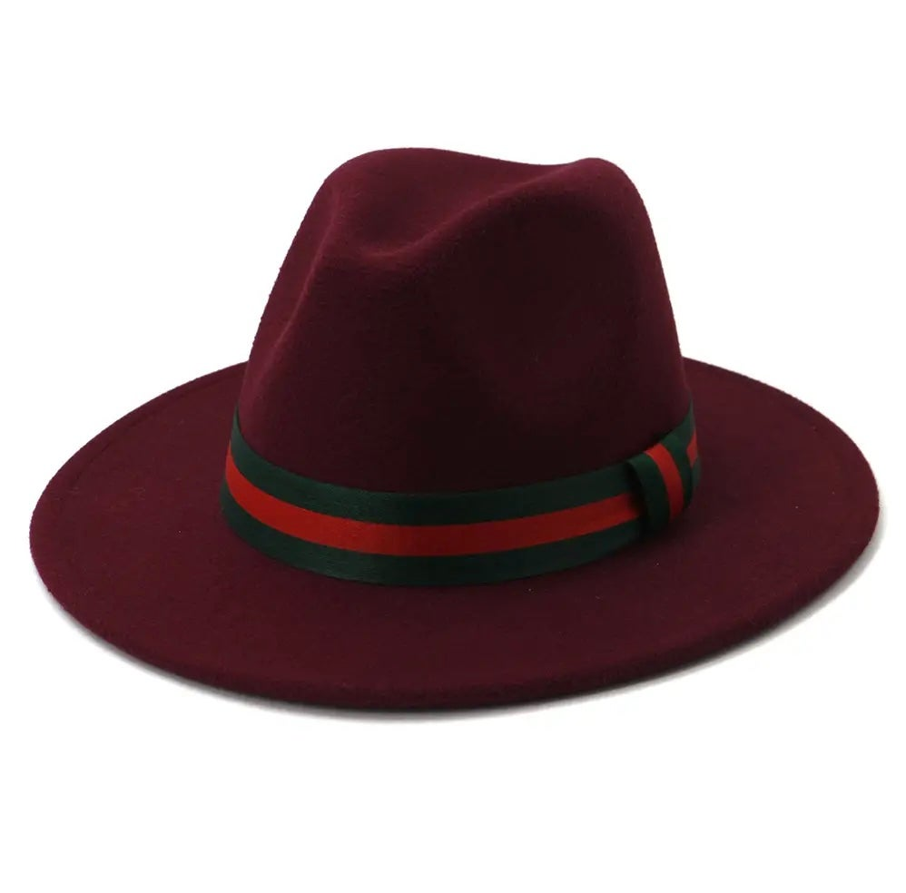 Image of Unisex Ribbon Panama fedora Hat