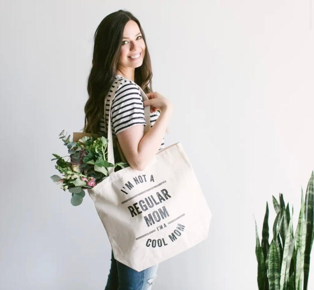 Image of I'm Not A Regular Mom, I'm A Cool Mom Tote Bag