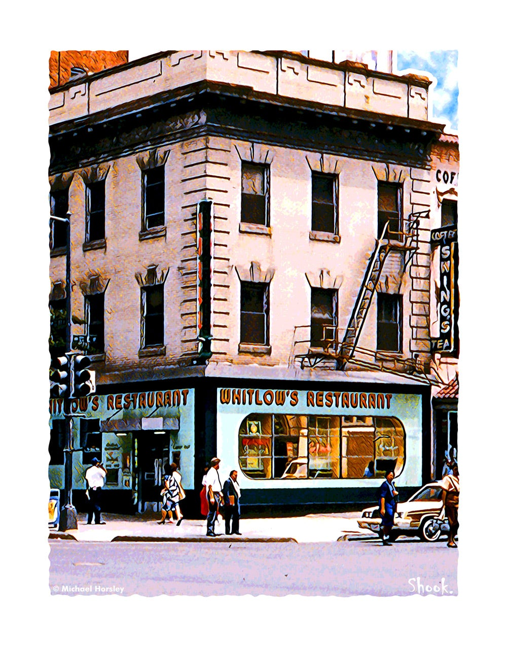 Whitlow's Restaurant, Washington DC Giclée Art Print (Multi-size options)