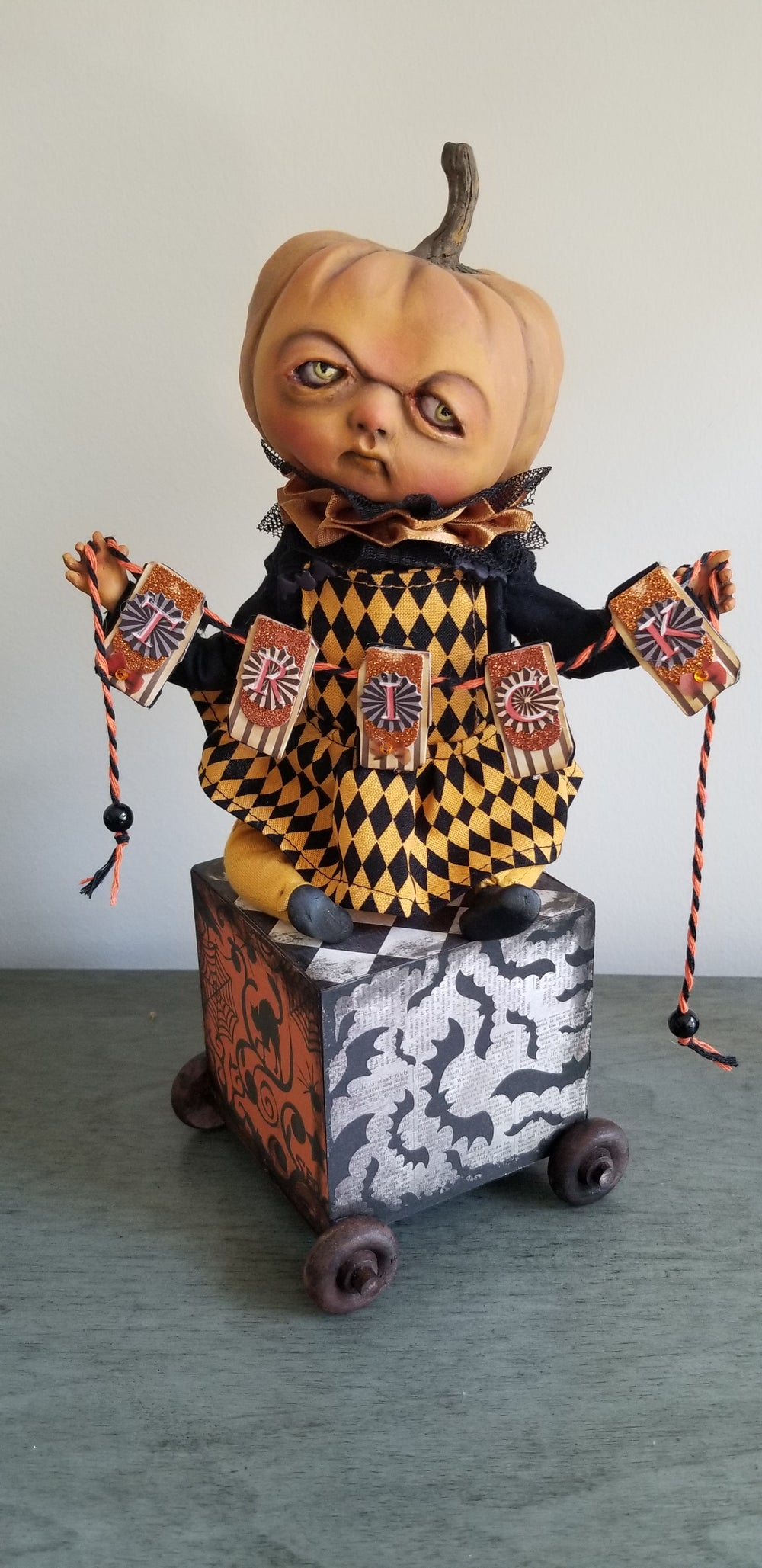 Image of Trick Pumpkin on the trolley
