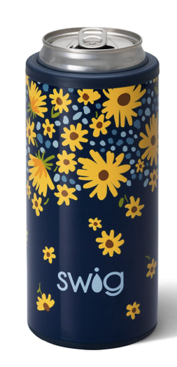 Image of Swig Lazy Daisy 12 Oz Skinny Can Cooler