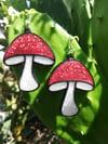Toadstool Mushroom Earrings Ver. 2