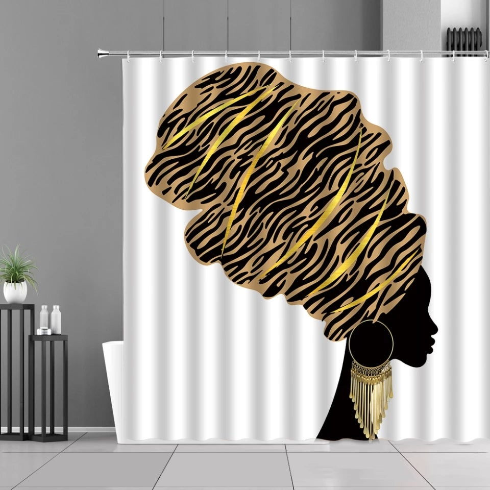 Image of HEADWRAP QUEEN SHOWER CURTAIN
