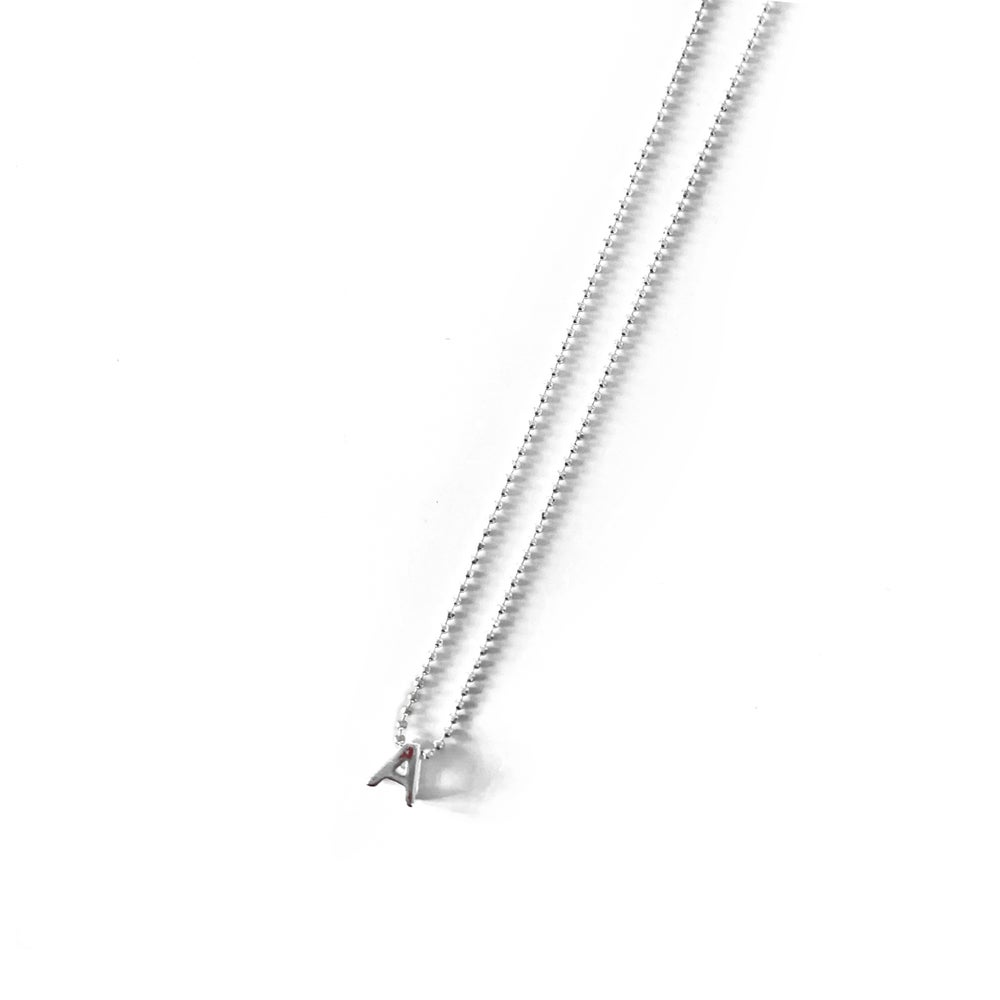 Image of Sterling Silver Initial Necklace