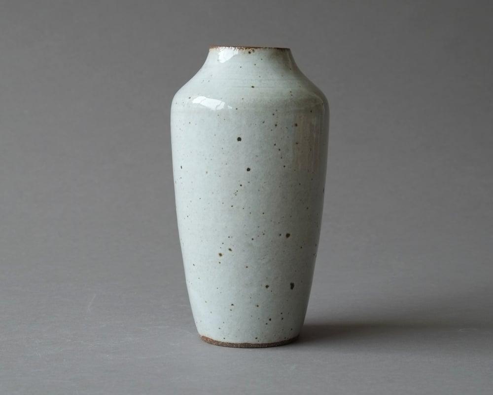 Image of Glossy white vase
