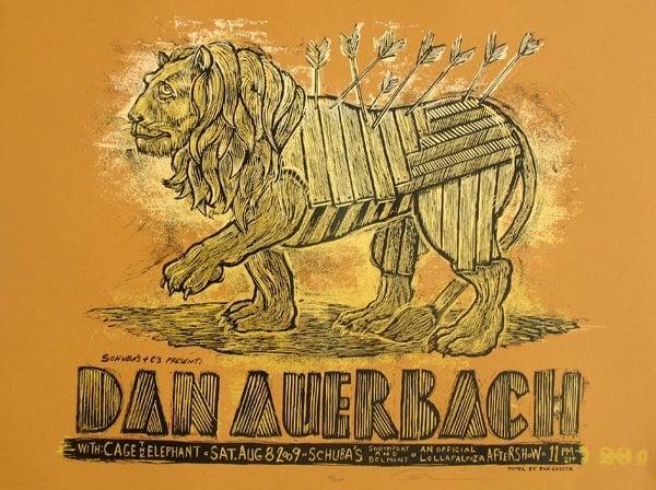 Dan Auerbach Schubas poster