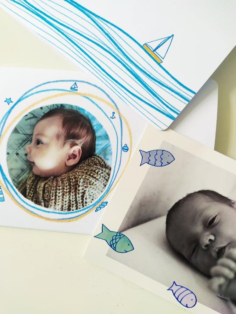 Image of Biglietti nascita, birth card, faire part naissance