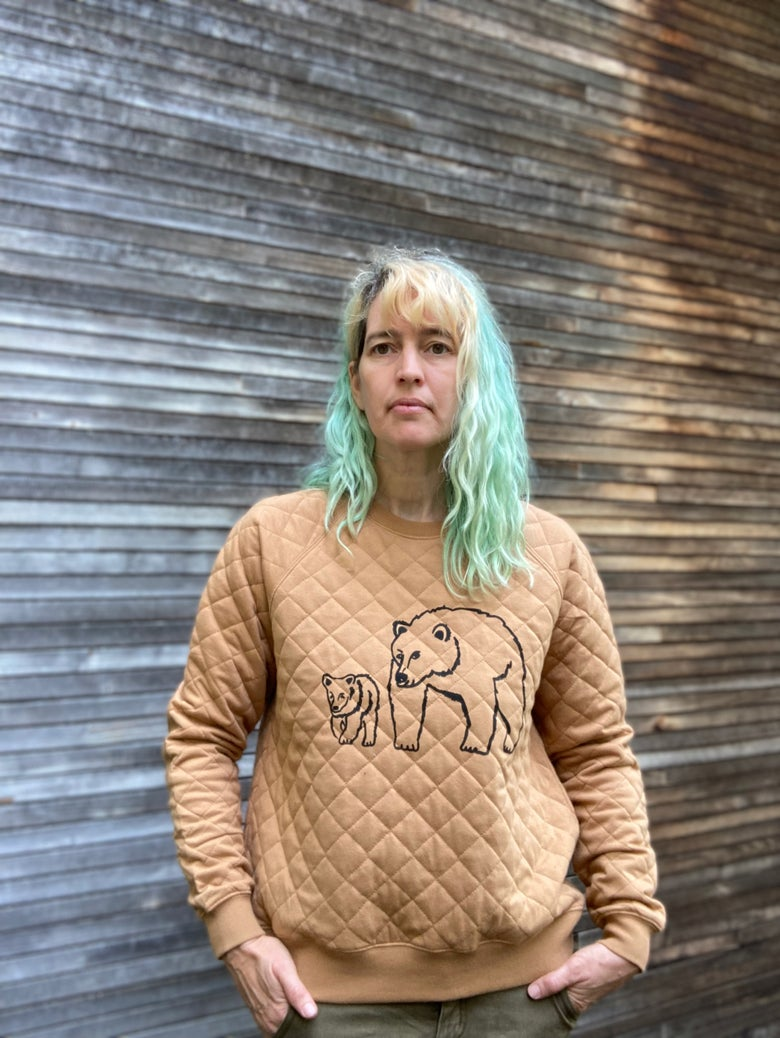 Image of Bear Quilted Sweatshirt