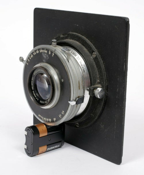 "Image of C.P. Goerz Apochromat [Red Dot] Artar 10 3/4"" [270mm] F9.5 Lens in Ilex shutter"