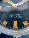 TUDOR Submariner Snowflake blue . Ref : 7021 / 0