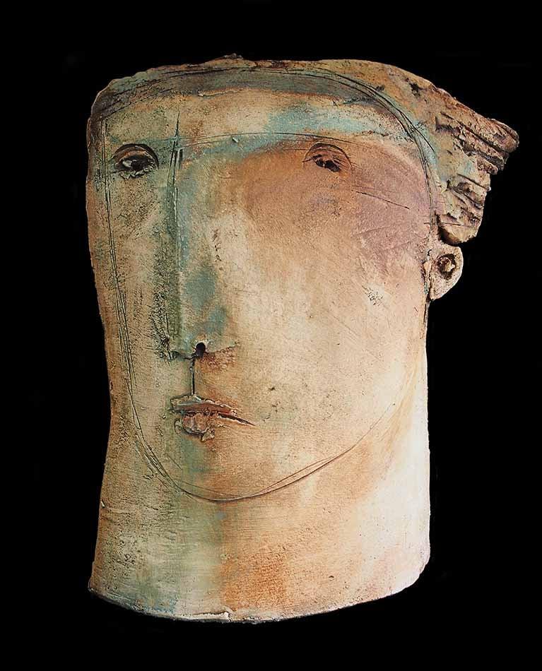 Image of Christy Keeney - 'Head'-  Unique Ceramic Sculpture