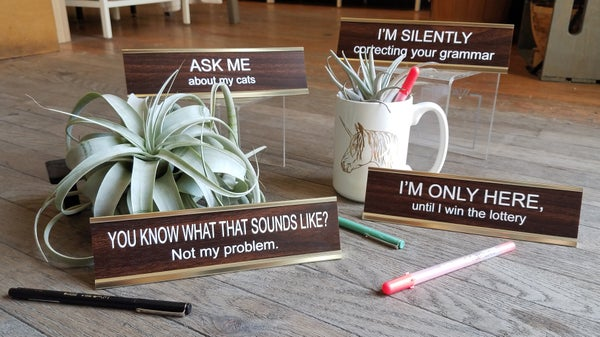 Image of Funny Nameplates from He Said, She Said