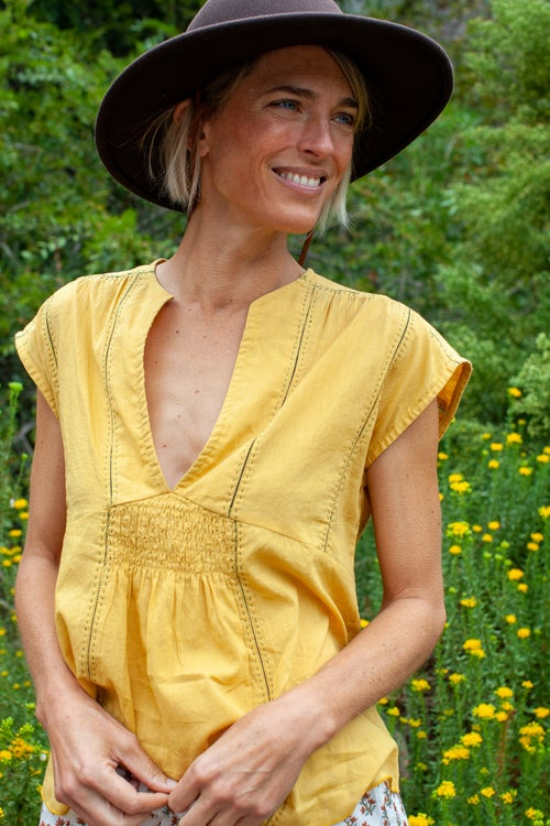 Image of S/S Ruched Top Solids