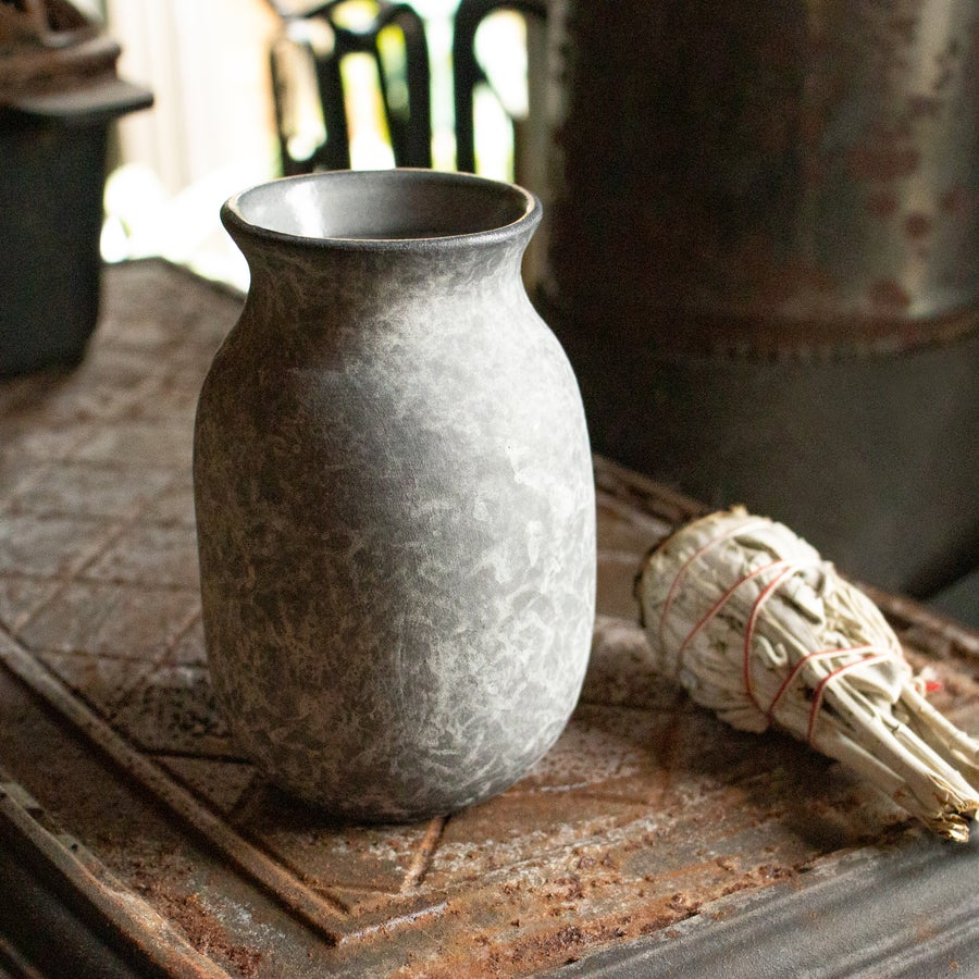 Image of Small Charcoal Vase by Stephanie Charlene