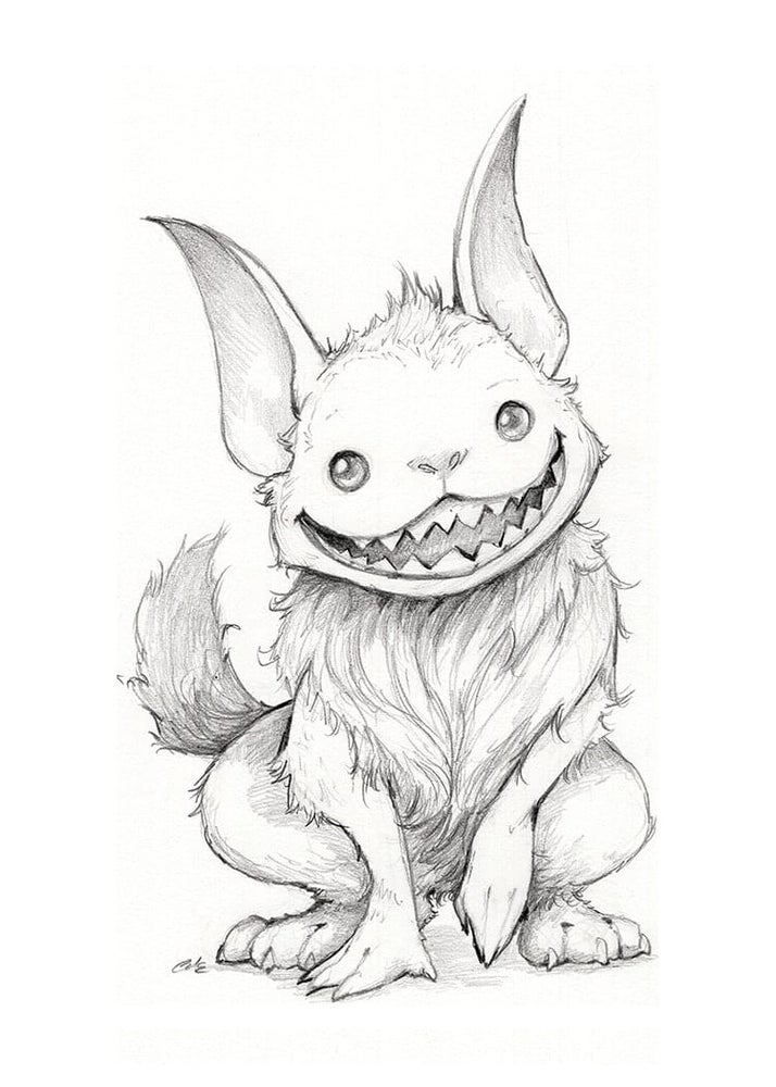 Image of Day 28- Barghest Drawlloween 2021 Print