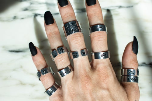 Image of Custom Stamped Ring   Art Font