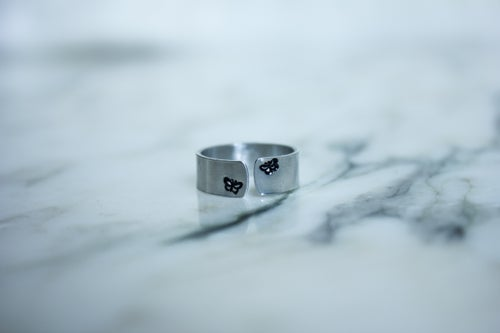 Image of Personalized Metal Stamped Ring - Symbols