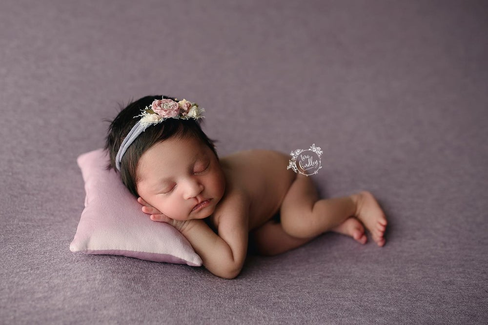 Image of Velvet Pillow and Headband Set (choice of colors)