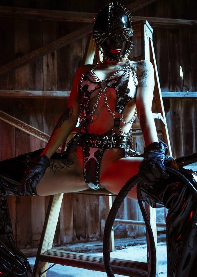 Image of Toxic Vision Make It Hurt cow print Dagger bodysuit
