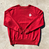 red logo sweater