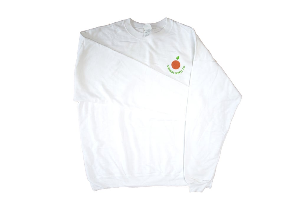 Image of HANGLOSER COLLABORATION WHITE SWEATER