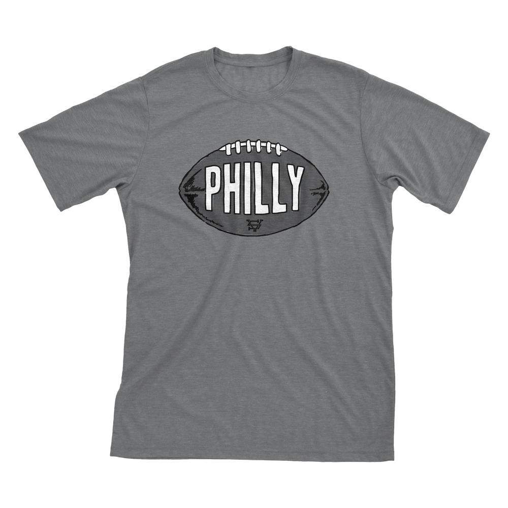 Image of Philly Football Grey T-Shirt