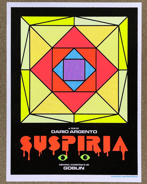 "Suspiria • 18""x24"" fuzzy blacklight poster"