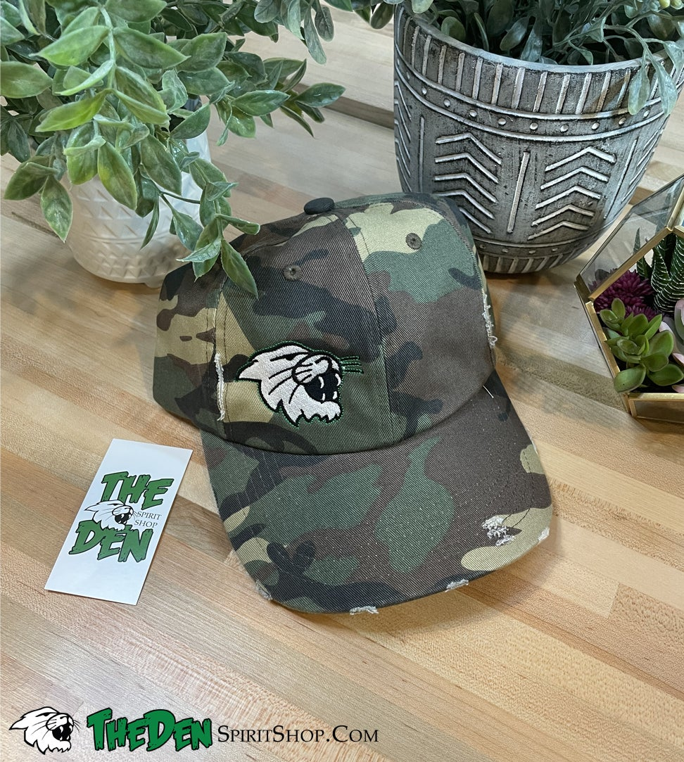Image of Distressed Hat, Camo