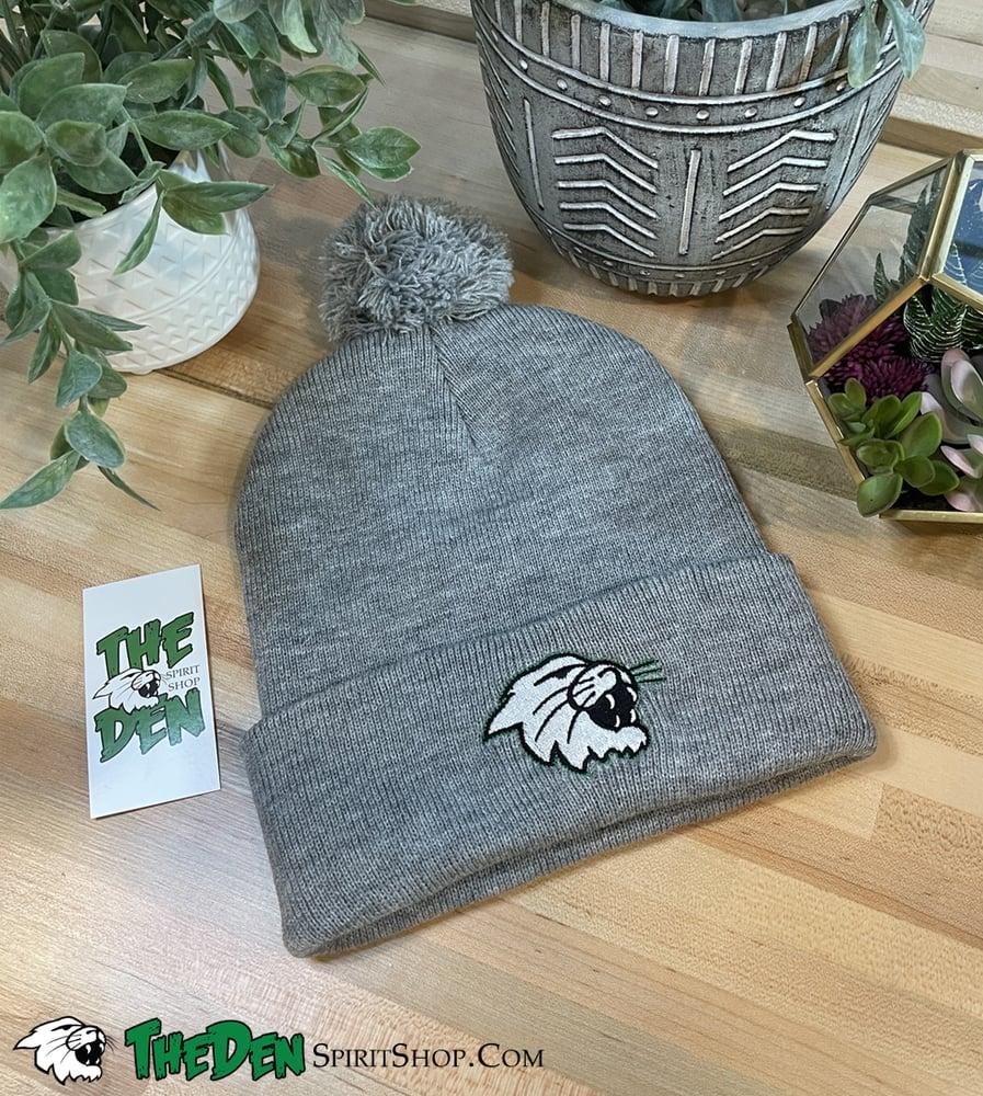 Image of Knit Pom Beanie, Light Grey
