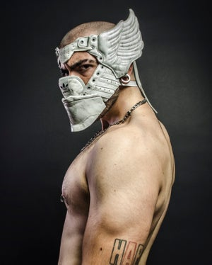 Image of SNEAKER WING MASK / AD JS / MARBLE WHITE